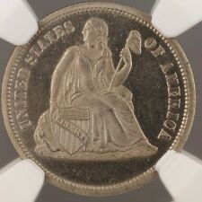 1869 10c Seated Liberty Dime Us Pattern Proof Coin J-716 Ngc Pf-64 Ww
