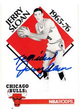 Coach Jerry Sloan Hall of Fame Jazz, Chicago Bulls SIGNED CARD AUTOGRAPHED