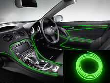 2M Car Decorative LED Wire Auto Interior Atmosphere Cold Light Green Lamp Strip