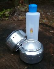 Alcohol Stove x2 & 4 ounce fuel bottle - Ultralight Hiking & Backpacking Stove