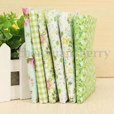 6PCS Assorted Pre-Cut Fat Quarters Bundle Cotton Quilt Fabric Patchwork Green