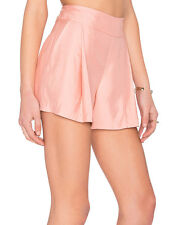 Cameo Midnight City Dust Pale Pink Smart Soft Pleat Shorts XS M L