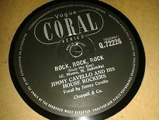 JIMMY CAVELLO & His House Rockers : ROCK, ROCK, ROCK / THE BIG BEAT.  UK.78rpm