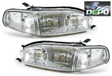92-94 Toyota Camry Chrome Diamond Headlights + Corners 4PCS SET DEPO