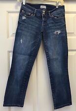 AEROPOSTALE  SKINNY STRAIGHT LEG JEANS LOW RISE - WOMEN'S SIZE 0 DISTRESSED