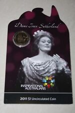 (PL) 2011 Australia Inspirational Dame Joan Sutherland $1 UNC Coin ROYAL MINT