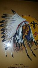"Painting of Native American Indian Swift Dog Standing Rock Sioux 10"" by 13"""