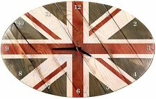 WOOD CLOCK  BRITISH FLAG  WALL HANGING BEST WOODEN SOUVENIR HOME  INTERIOR DECOR