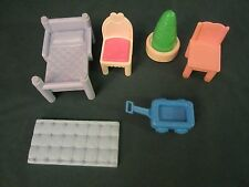 LOT OF VINTAGE FISHER PRICE LOVING FAMILY FURNITURE, ASSORTED