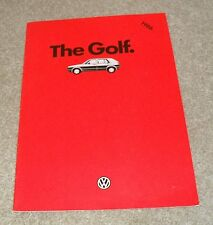 Volkswagen VW Golf Mk2 Brochure 1985-1986 - C CL GL GTI 3 & 5 door