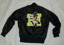 Mickey Mouse coat vintage youth 6-7 satin button up FOOTBALL jacket  RaRe Disney