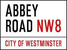 Abbey Road London Street Sign The Beatles - Metal Wall Sign Plaque