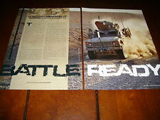 OSHKOSH M-ATV MILITARY TRUCK CAT DIESEL ARMY ***ORIGINAL 2010 ARTICLE***