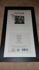 ALEX CLARE Lateness of the hour SIGNED AUTOGRAPHED FRAMED DISPLAY