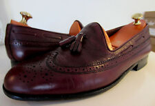 Bally Burgundy leather tassel Loafers shoes UK 10.5 EU 45