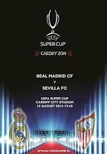 * REAL MADRID v SEVILLA - 2014 SUPER CUP - MINT PROGRAMME (12th August 2014) *