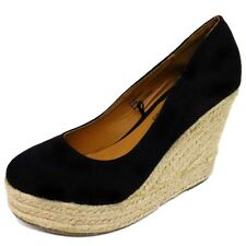 12x Ladies Womens Black High Heel Wedge Court Shoes Wholesale Job Lot Clearance