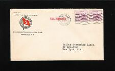 Hawaii Territory Dollar Steamship Lines Honolulu Air 1935 to NY Cover 7s