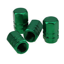 4 Pcs Green Aluminum TPMS Tyre Tire Valve Stem Caps For Nitrogen inflation
