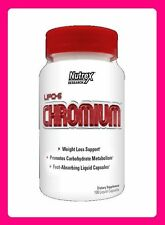 Nutrex Lipo-6 CHROMIUM 100 liquid capsules WEIGHT LOSS METABOLISM SUPPORT NEW