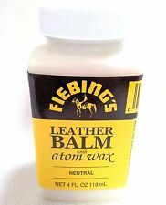 4 OZ FIEBING'S LEATHER BALM with ATOM WAX 2180-00 Tandy Finish Top Coat Sealer