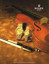 PUBLICITE ADVERTISING 094  1998  ROLEX  montre DAY- DATE & LADY DATEJUST