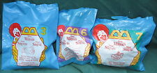 3 McDonald's Little Mermaid Gold Disney Wind-up Tub Toys 1997 Glut Scuttle Eric