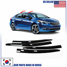 SMOKED DOOR WINDOW VENT VISOR DEFLEKTOR (A147) KIA FORTE SEDAN 2014-2017