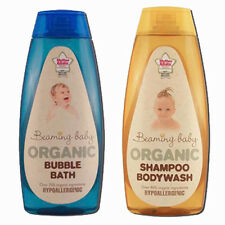 Beaming Baby Organic Baby Shampoo & Bodywash and Baby Bubble Bath. Twin Pack