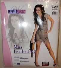New Womens Texas Chainsaw Massacre Miss Leatherface Costume Small 2-6