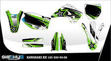 KIT ADESIVI GRAFICHE WE LOVE FMX KAWASAKI KX 125 250 2003 DECALS DEKOR