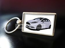 FORD FIESTA ST 200 METAL KEY RING. CHOOSE YOUR CAR COLOUR.