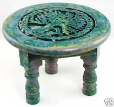 "6"" Wooden Round Tree of Life Altar Table!"