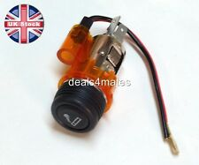 Orange/amber coche cigarrillo / Cigarro Encendedor Auxiliar Socket Plug 12v