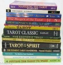Vintage Lot of 15 TAROT THEMED Divination Magic Books Mixed Hardcover/Paperback