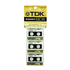 TDK MC-60 Audio Cassette Tape Voice Recorder Micro Pack of 3
