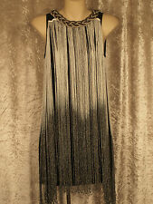 1920 Great Gatsby Style Flapper  Dresses Game of  Thrones Fringe  Beaded Neck M
