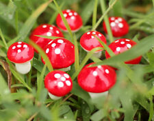 20pcs Red CI Mushroom Garden Ornament Miniature XA Plant Pots Fairy Dollhouse