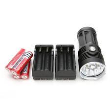 25000LM 10 LED CREE XM-L T6 Flashlight Lampe Torche 4x 18650 Batterie + Chargeur