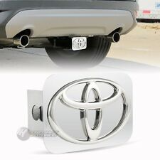 "TOYOTA Logo Chrome Stainless Steel Hitch Cover Plug For 2"" Trailer Tow Receiver"