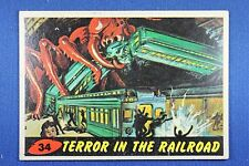 1962 Topps Bubbles - Mars Attacks - #34 Death In the Railroad - Excellent Cond.