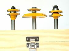 3pc 12° w/ Back Cutter  Raised Panel & Bead Rail & Stile Router Bit Set  sct-888