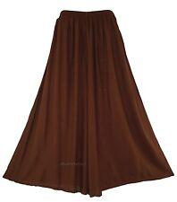 Brown Women Palazzo Wide Leg Pants Trouser Plus Size 1X 2X 20 22