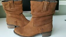 Ladies Next Tan Slouch Style Ankle Boots- Size 6/39 Wide Fit BNWT £58