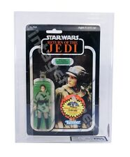 Afa/AFA Star Wars Leia (poncho)/Kenner 1983/ROTJ 77-bk/MOC/Afa y 75%
