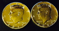 24K GOLD PLATED 2017 P-D JOHN F KENNEDY HALF DOLLAR SET