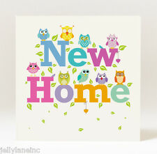 Handmade  New Home Card with Owl Detail