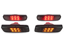 2001-2005 LEXUS IS300 CRYSTAL SMOKE FRONT AMBER+REAR RED LED BUMPER SIDE MARKERS