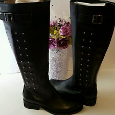 ��Brand New Vince Camuto Black Fido Tie Dye , Leather Riding Boots ! $379 + !��