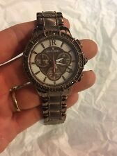 Judith Ripka Sold Out Rare Brown Chronograph Watch Dominique Crystals New Lrg
